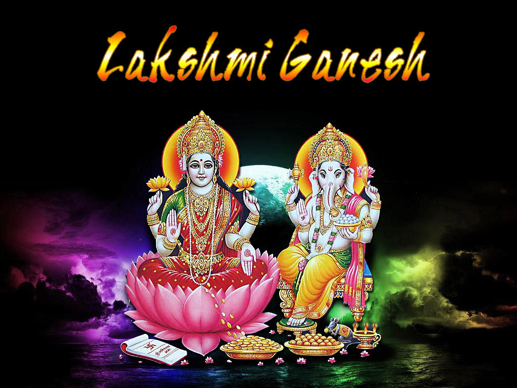 Hindu Religious Sacred Lord Wallpapers - Lakshmi-Ganesh-Pictures (2)